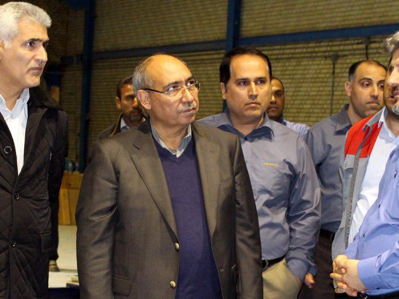 بازدید مدیرعامل و رییس هیئت مدیره گروه سرمایه گذاری امید از کارخانه سیمان هرمزگان